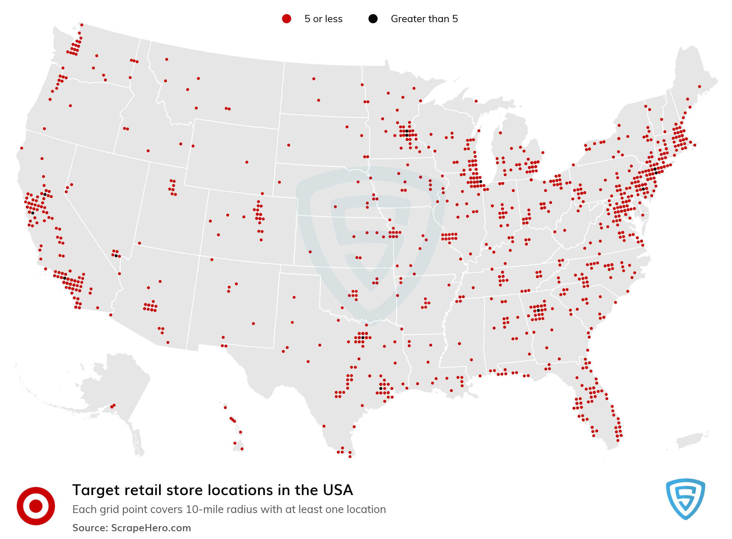 Number of Target Stores in the US by State | ScrapeHero