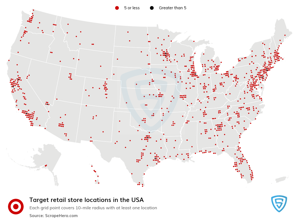 Number Of Target Stores In The Us By State Scrapehero