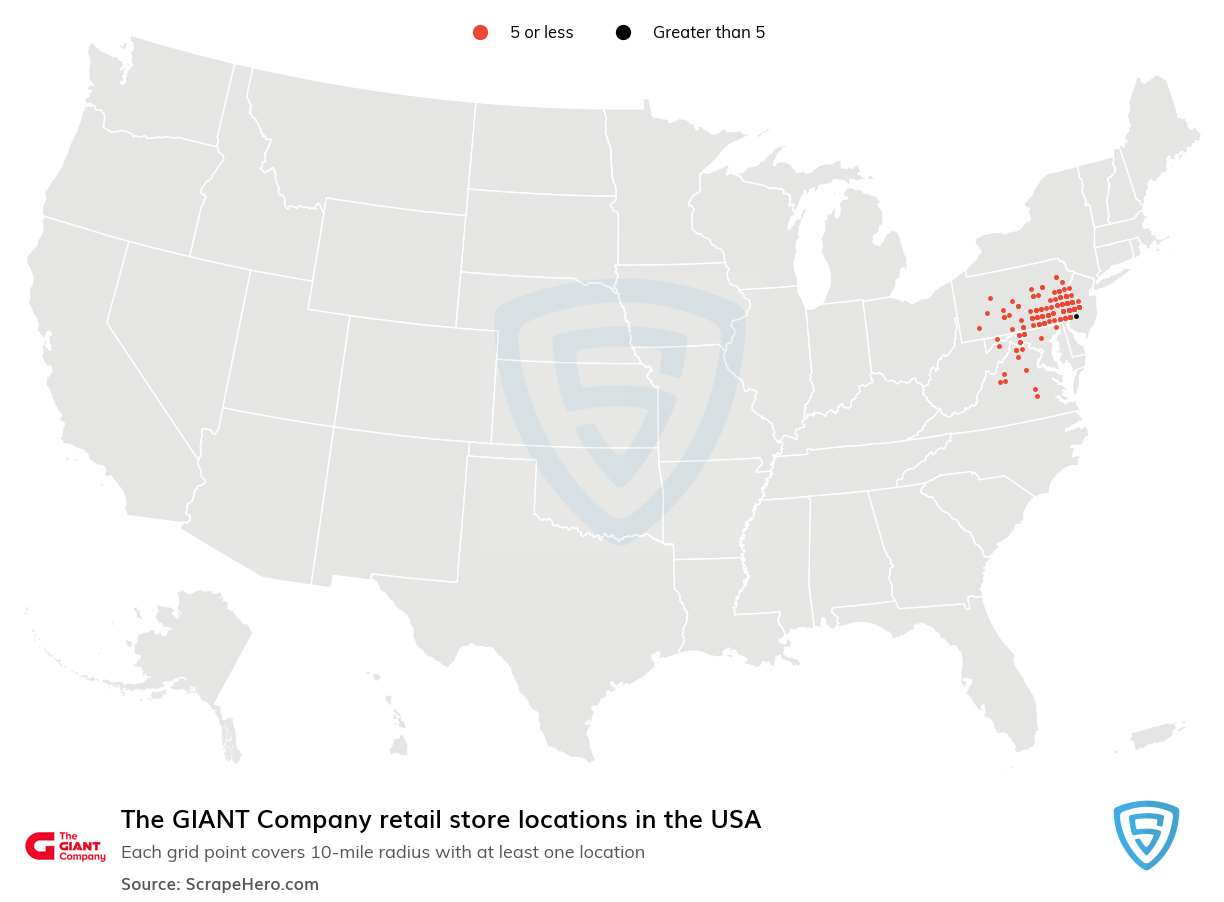 The GIANT Company store locations