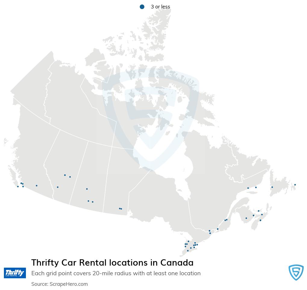 Thrifty Car Rental locations