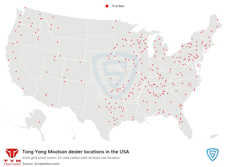 Tong Yang Moolsan dealership locations
