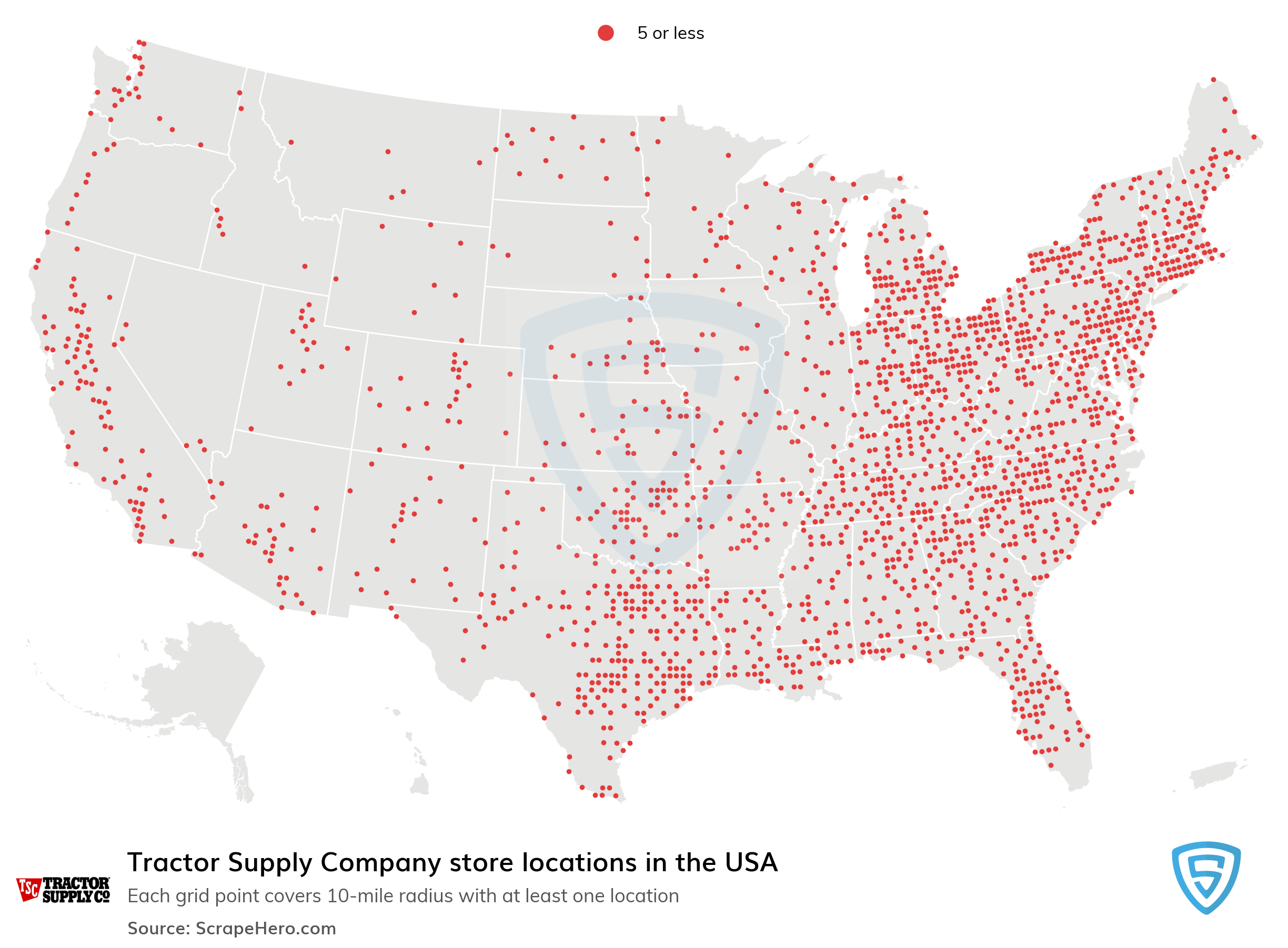 Tractor Supply Company Store locations