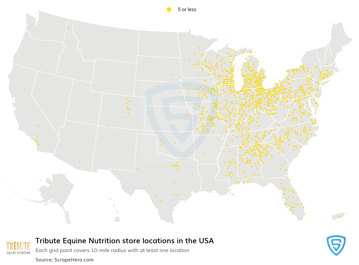 Tribute Equine Nutrition store locations