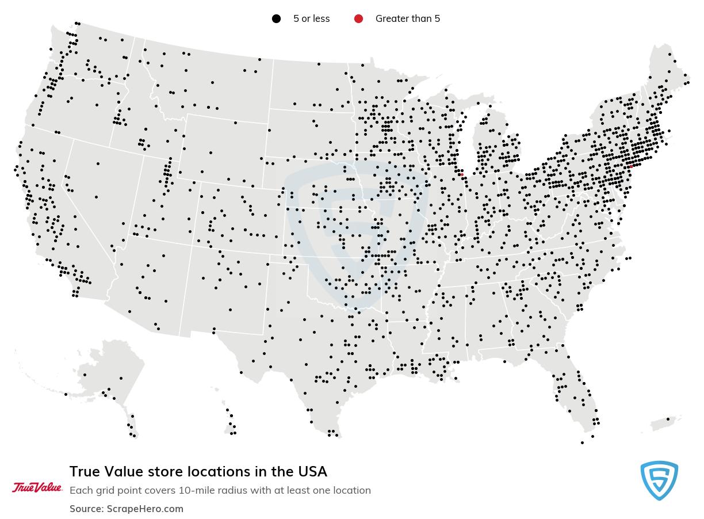 True Value locations