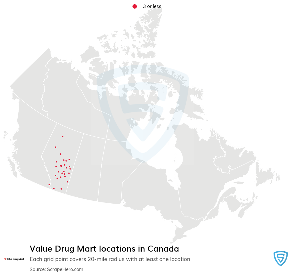 Value Drug Mart Pharmacy locations in the Canada