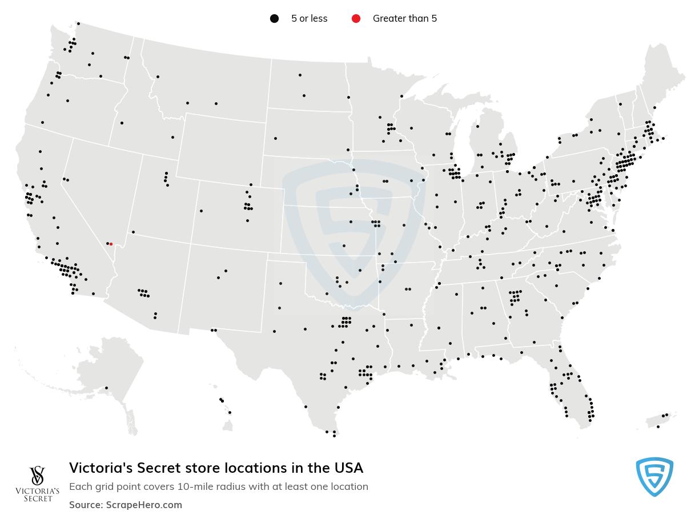 Victoria's Secret Store Locations in the USA