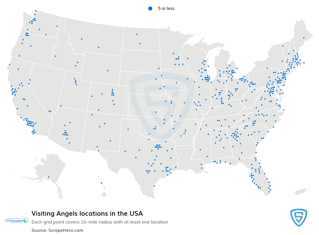 Visiting Angels locations