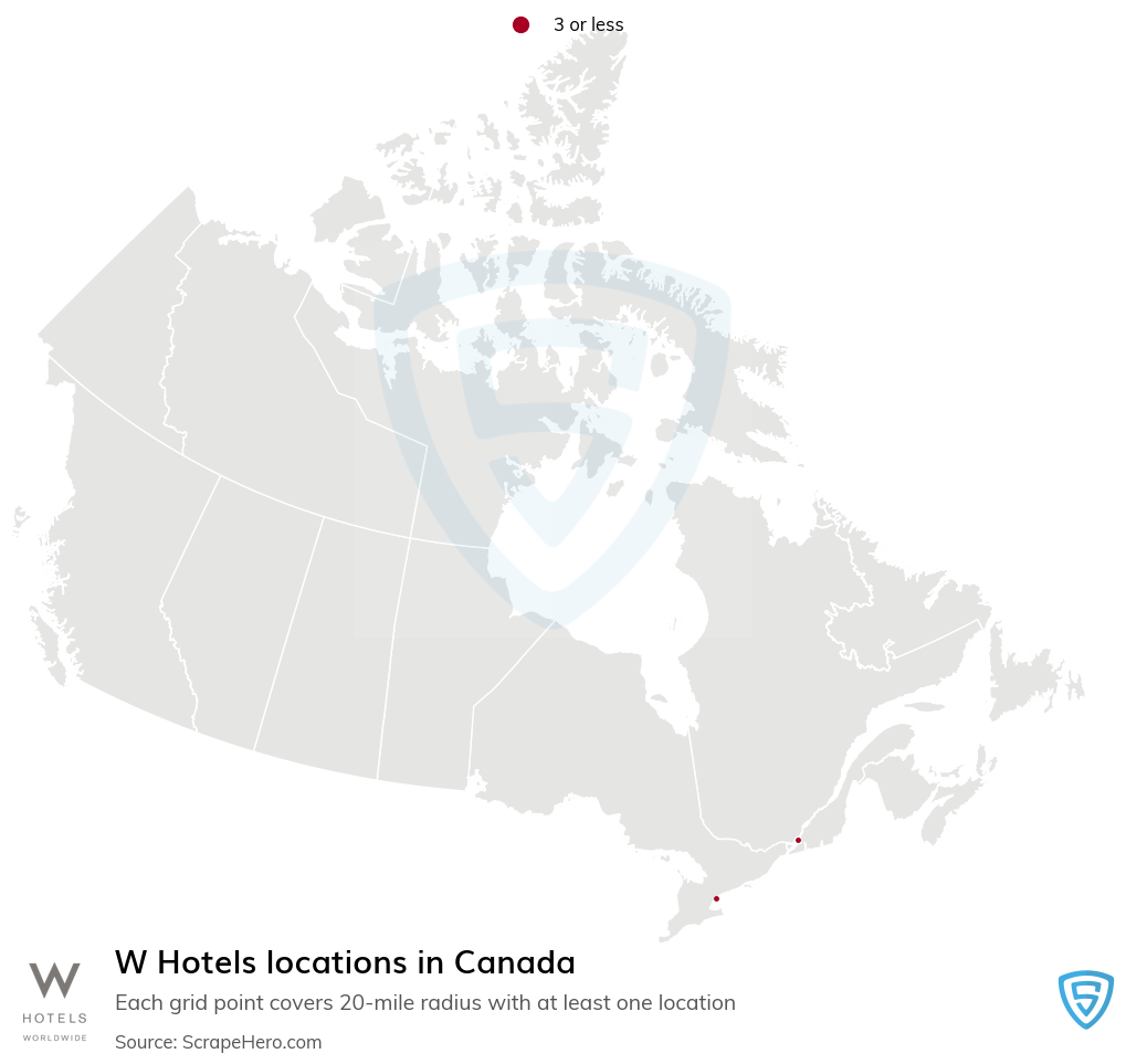 W Hotels locations in the Canada
