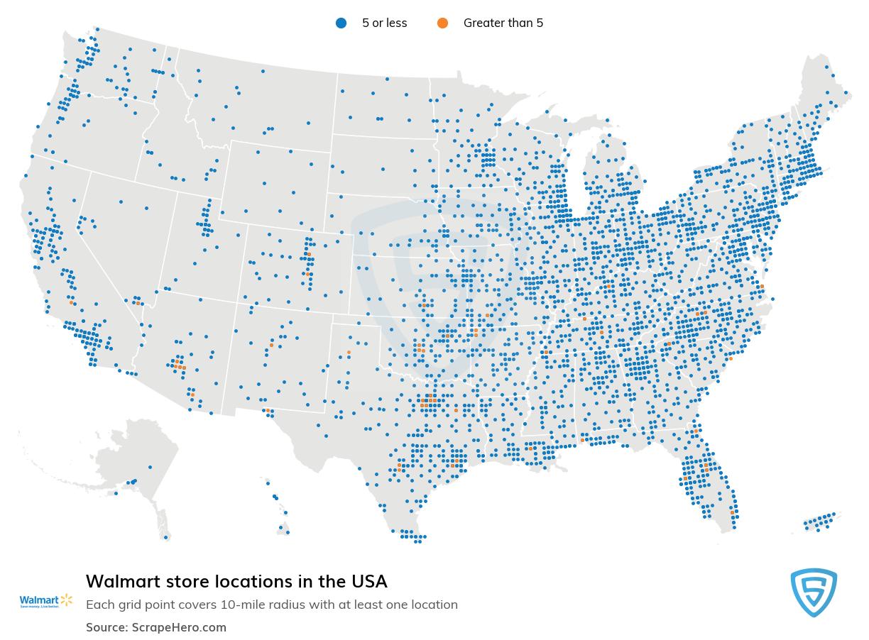 Walmart store locations