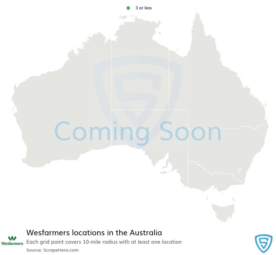 Wesfarmers Store locations in Australia