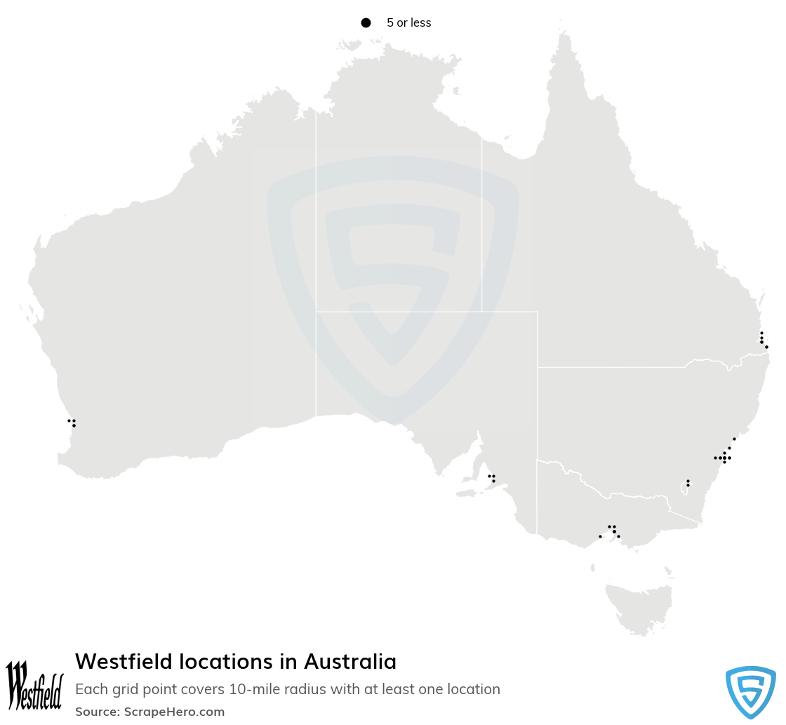 Westfield store locations