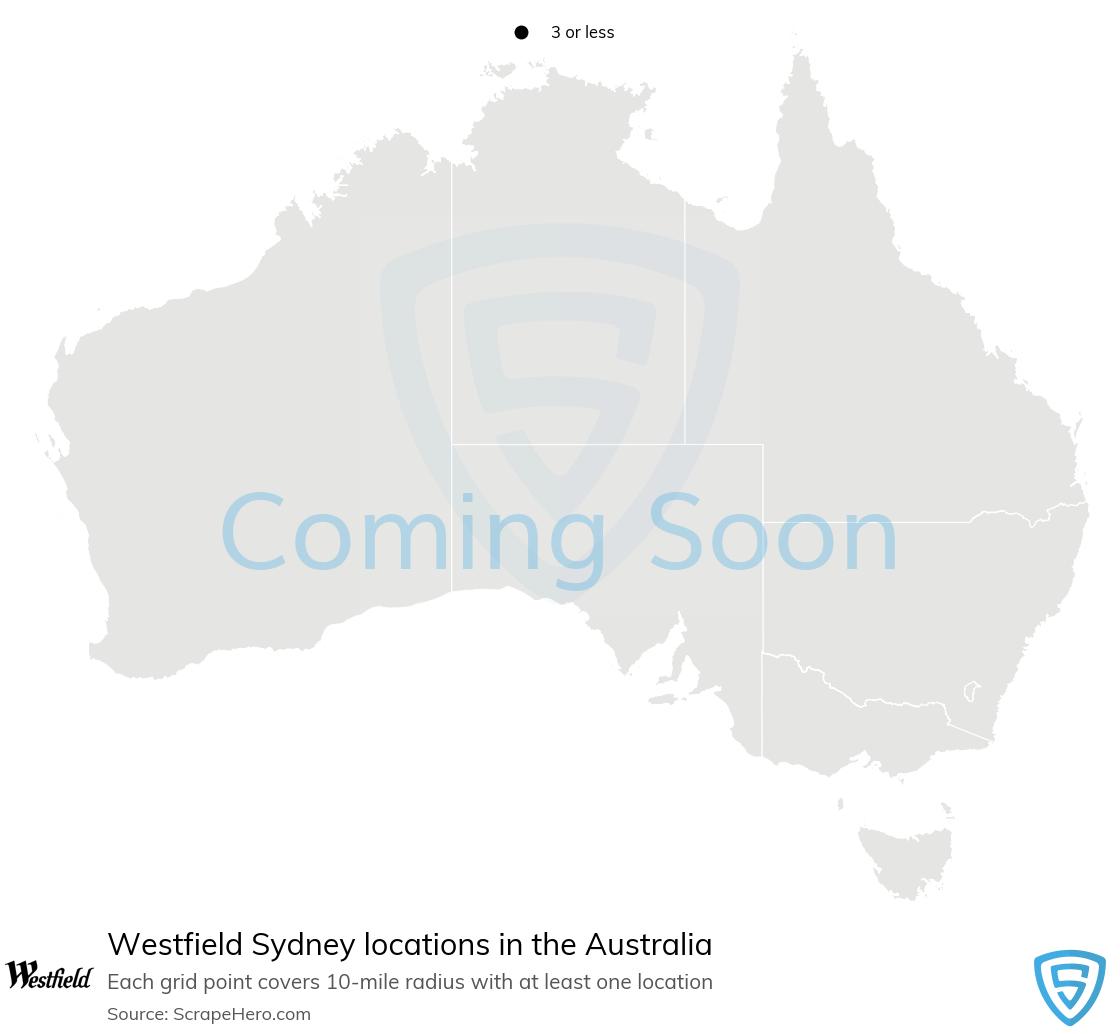 Westfield Sydney Store locations in Australia