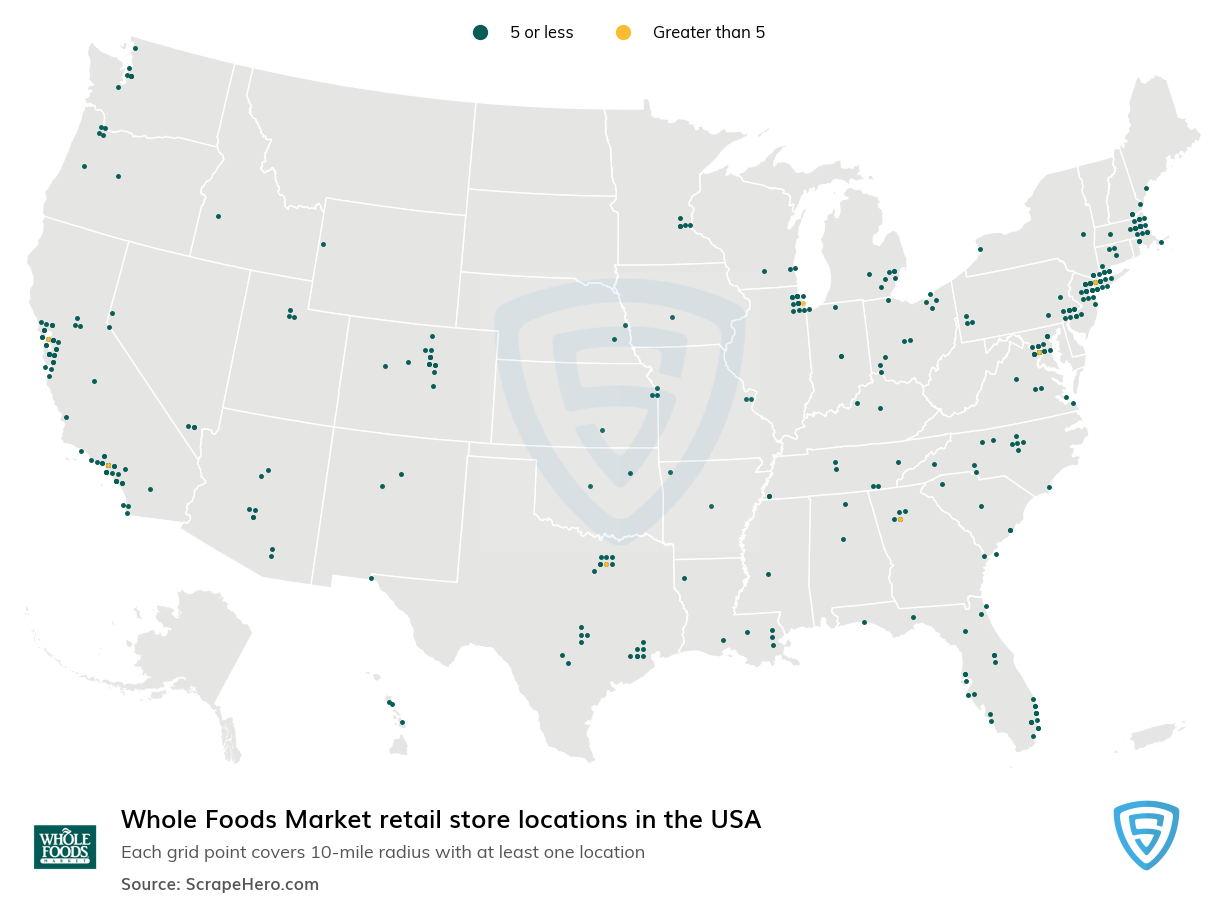 Whole Foods Market store locations