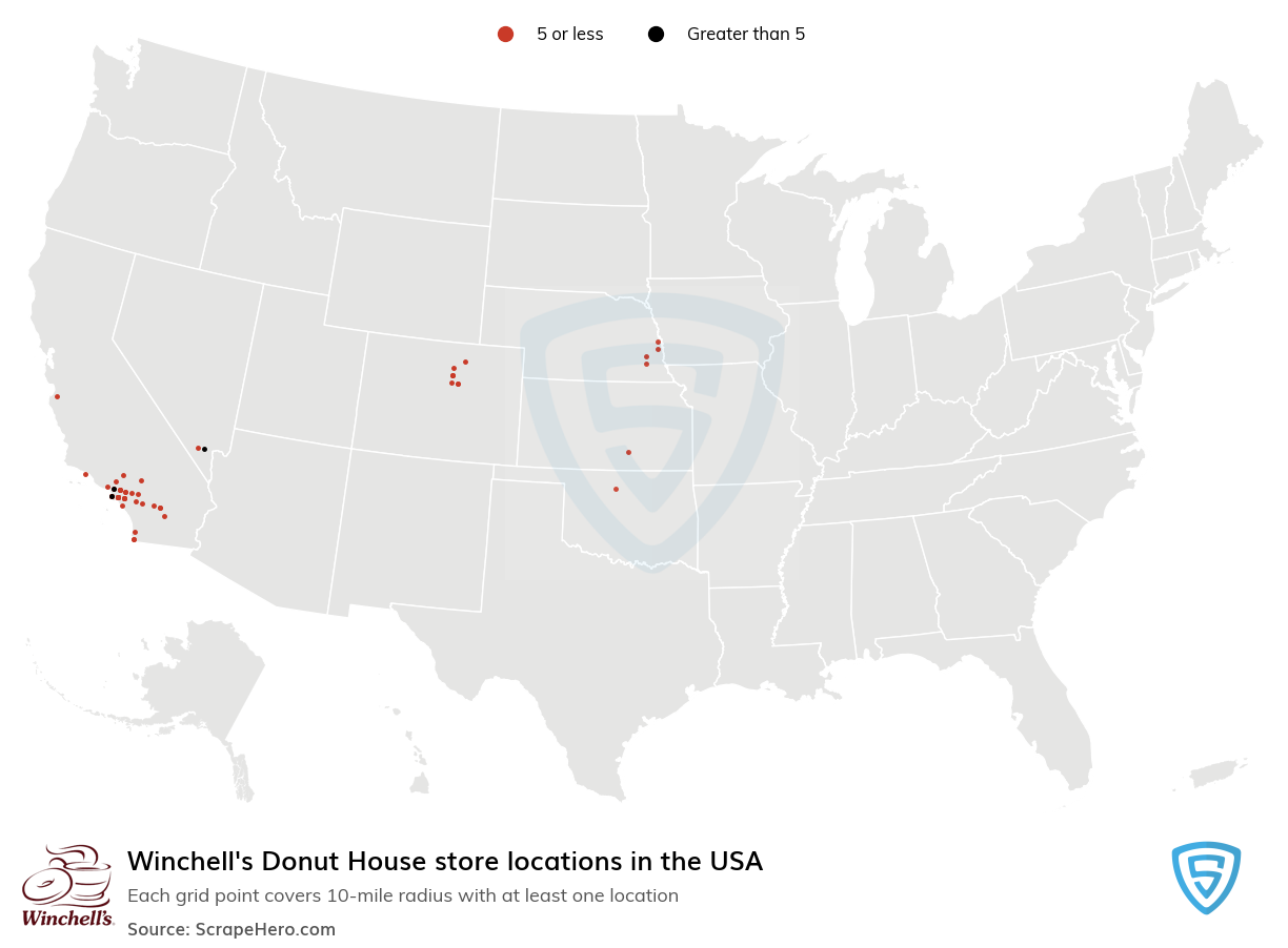 Winchell's Donut House store locations