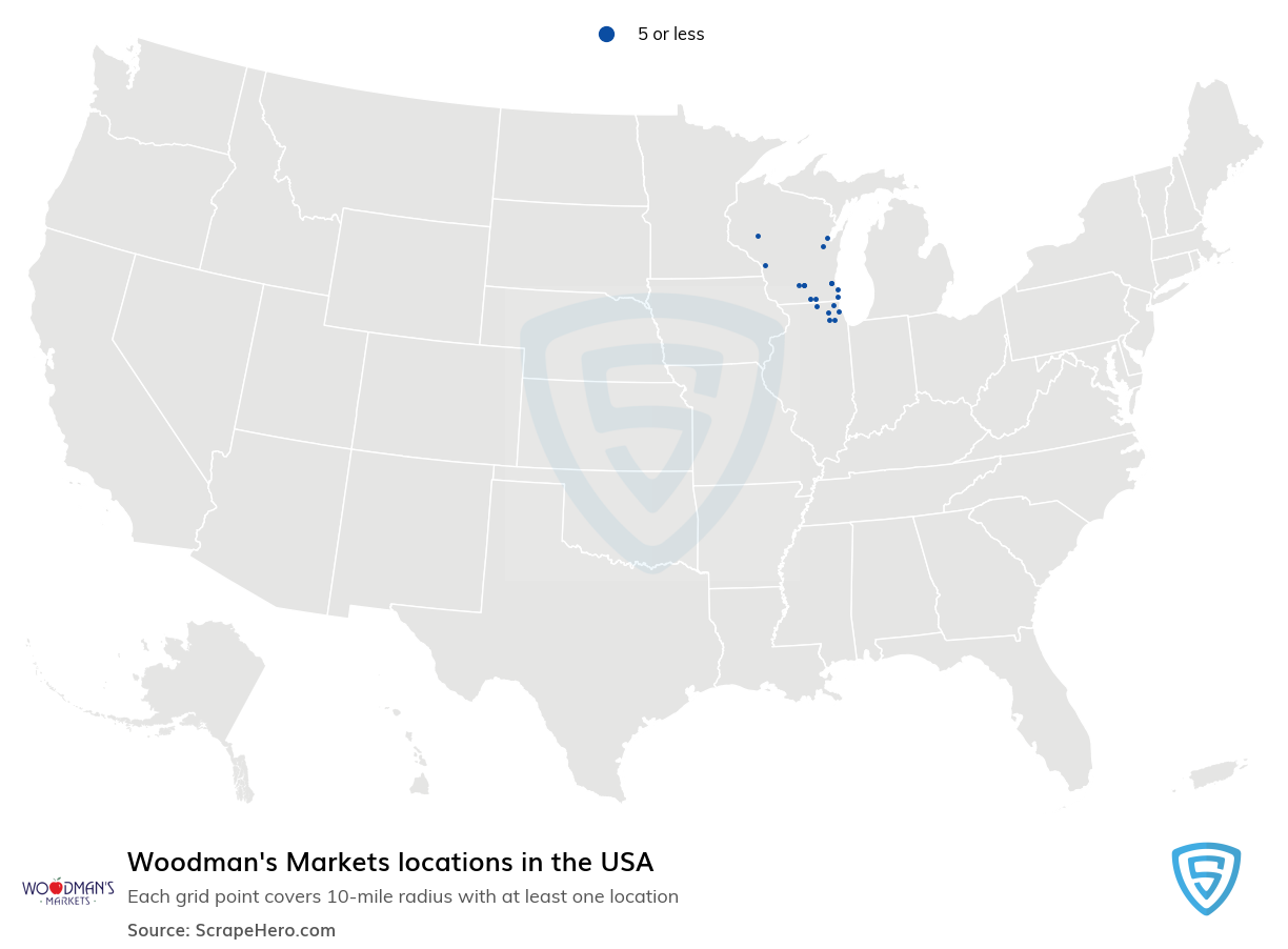 Woodman's Markets locations in the USA