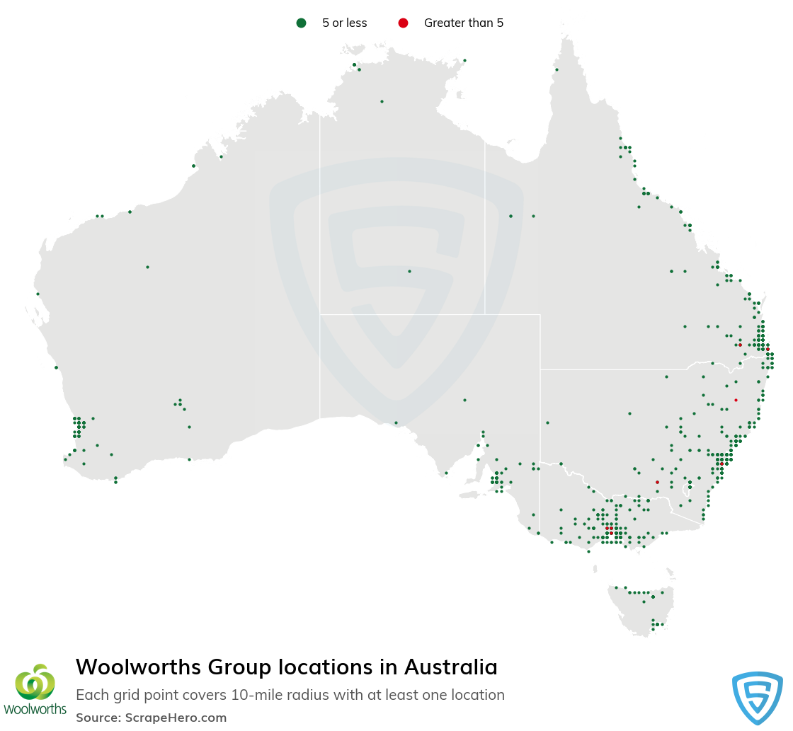 Woolworths Group locations