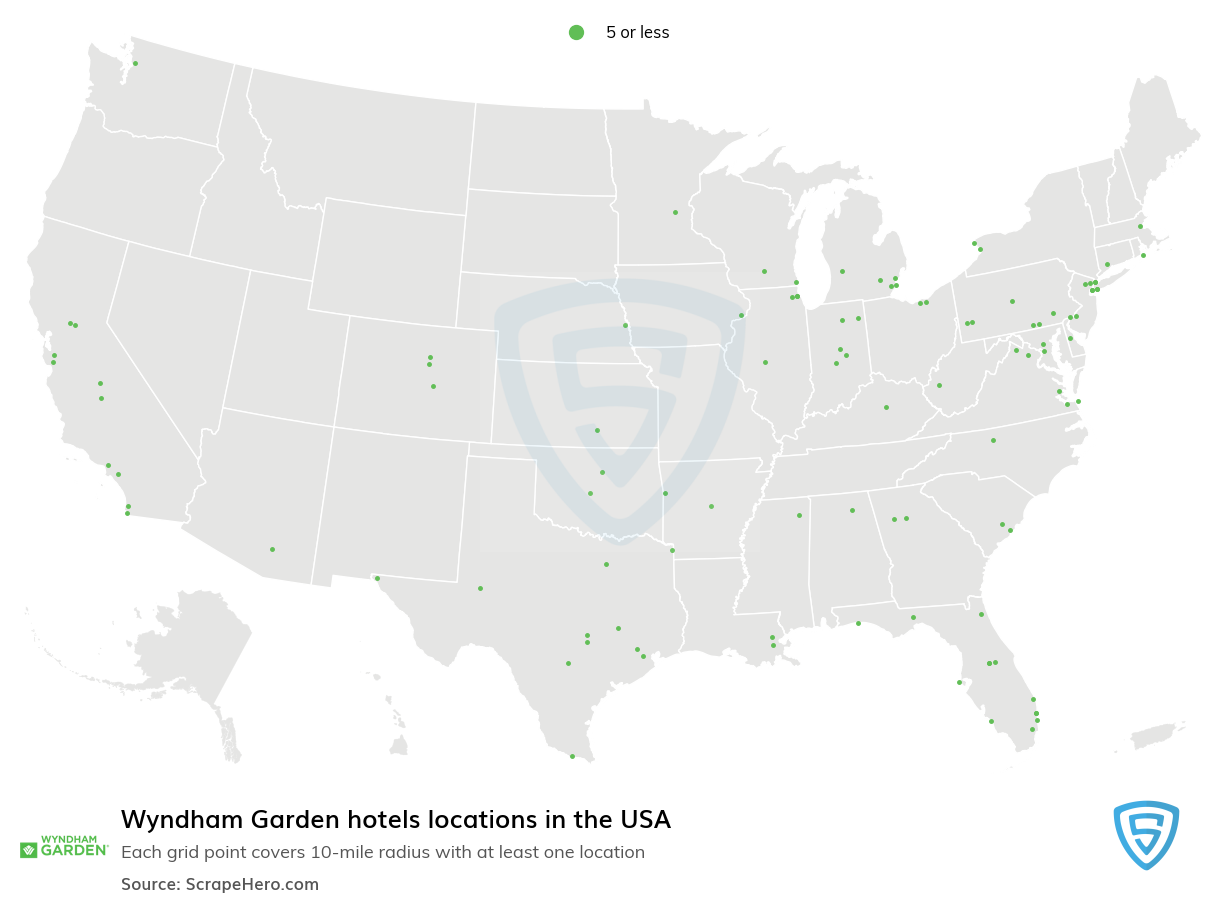 Wyndham Garden hotels locations