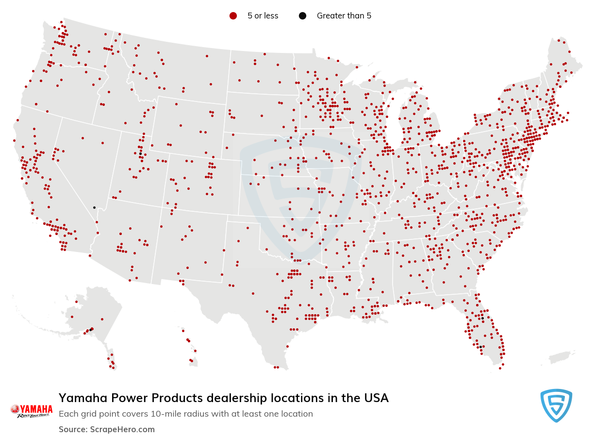 Yamaha Power Products Dealership locations in the USA