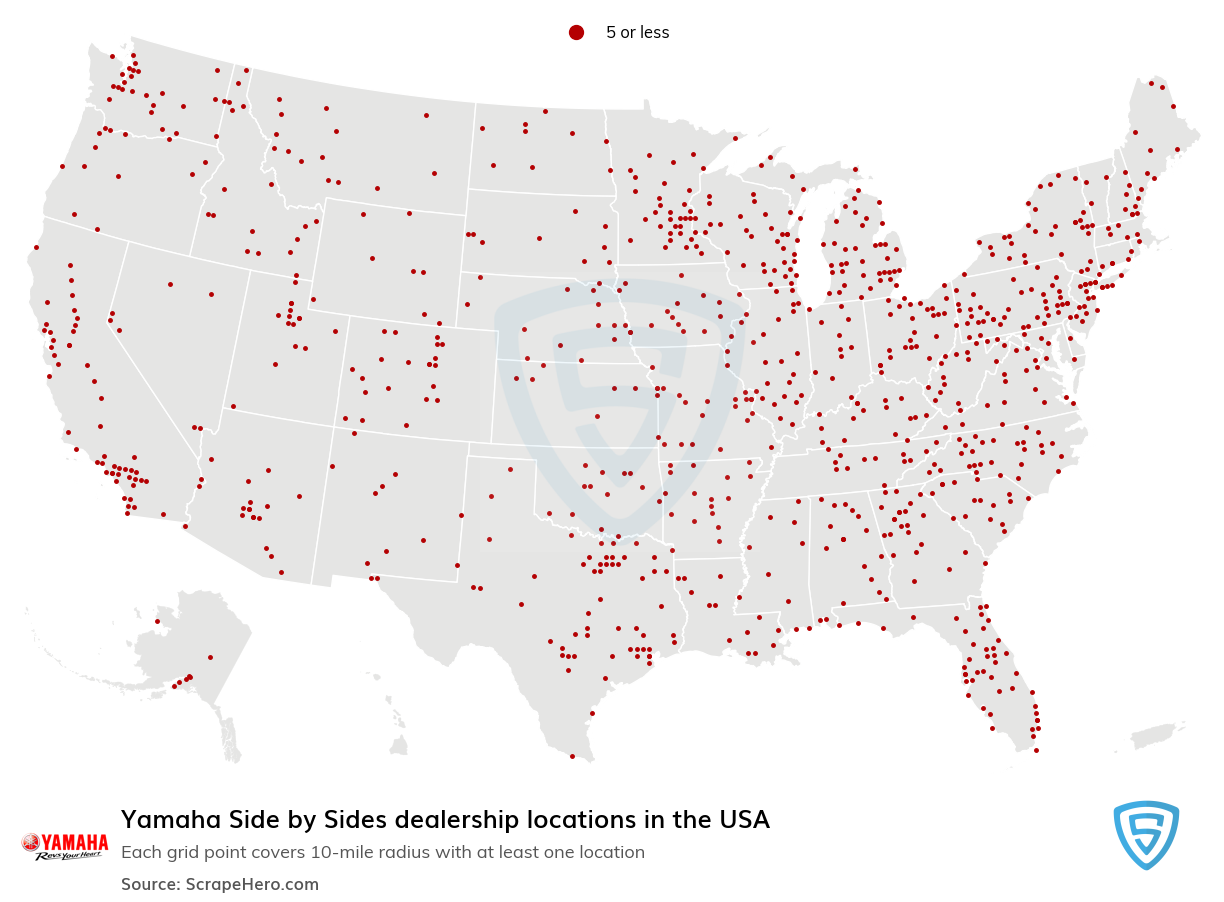 Yamaha Side by Sides Dealership locations in the USA
