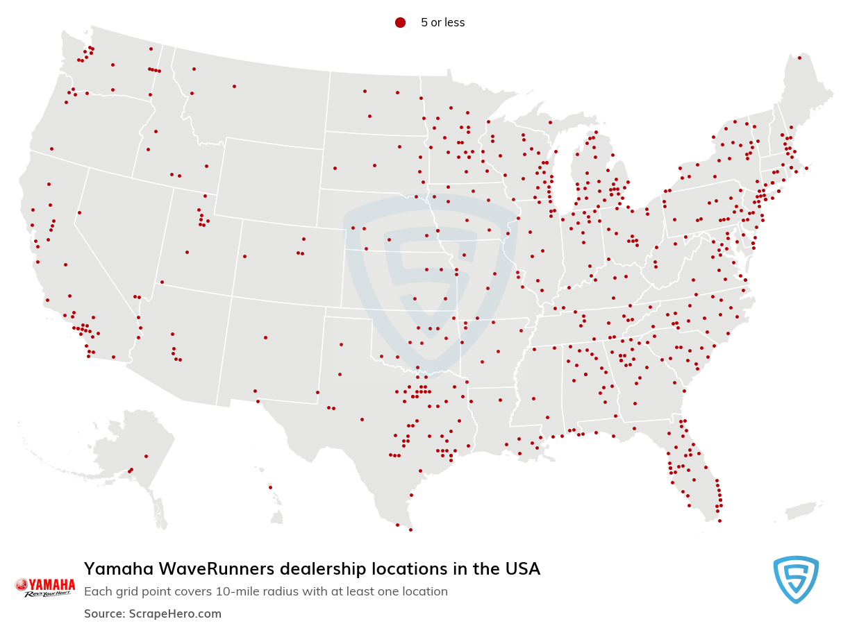 Yamaha WaveRunners Dealership locations in the USA