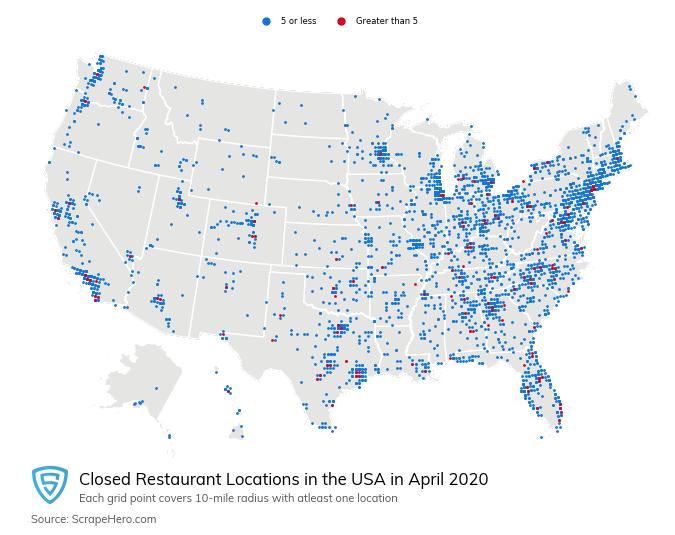 Restaurants Closings in April
