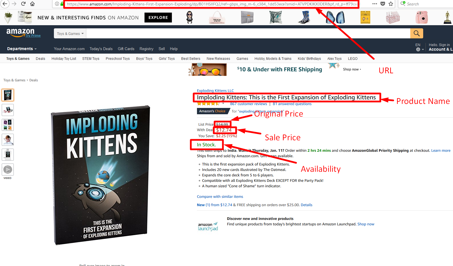 How to Scrape Amazon com Product Details and Pricing using