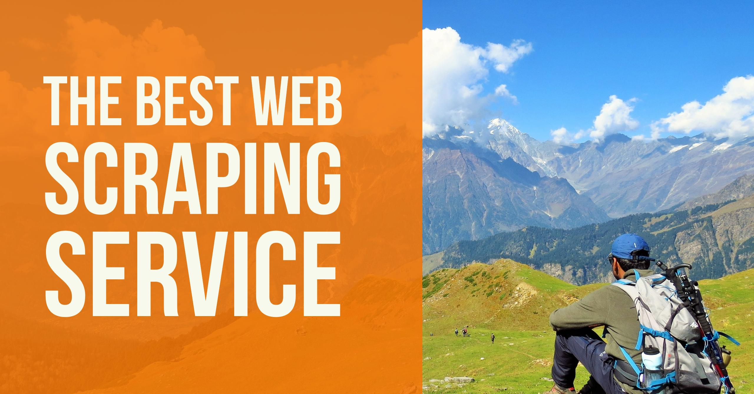The best web scraping service