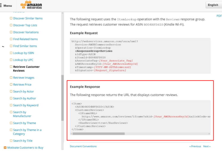 Amazon Product Advertising API Review