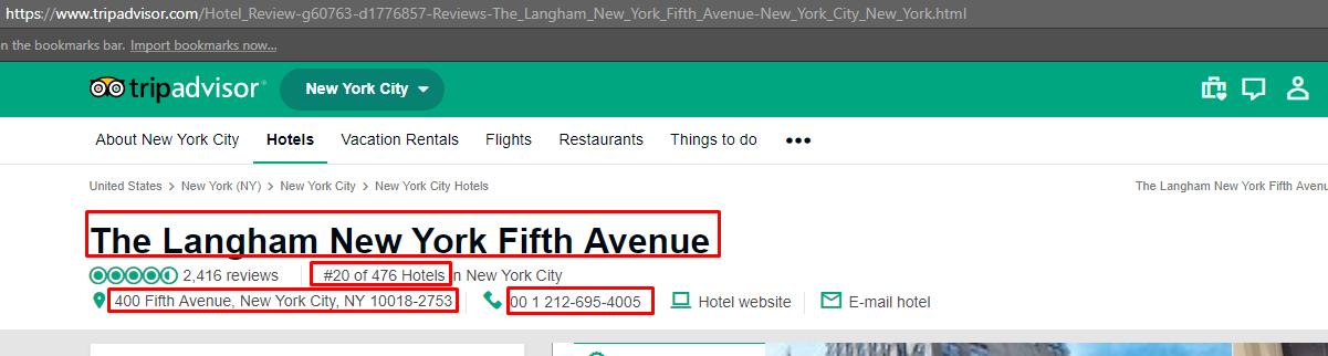 How to scrape Tripadvisor com Hotel Details using Python and