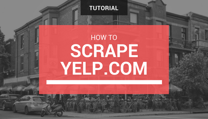 How to scrape Yelp for Business Listings