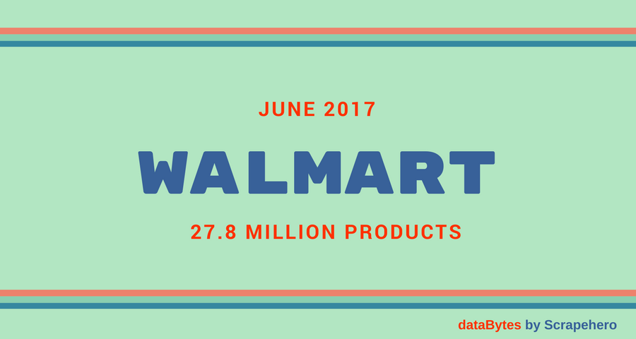 Amazon vs Walmart- Products Sold in June 2017