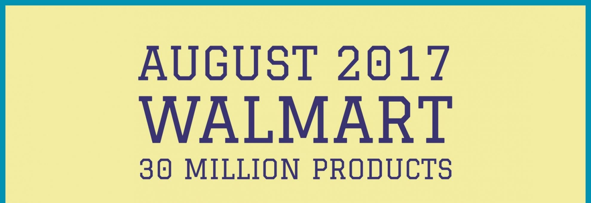 Amazon vs Walmart- Products Sold in August 2017