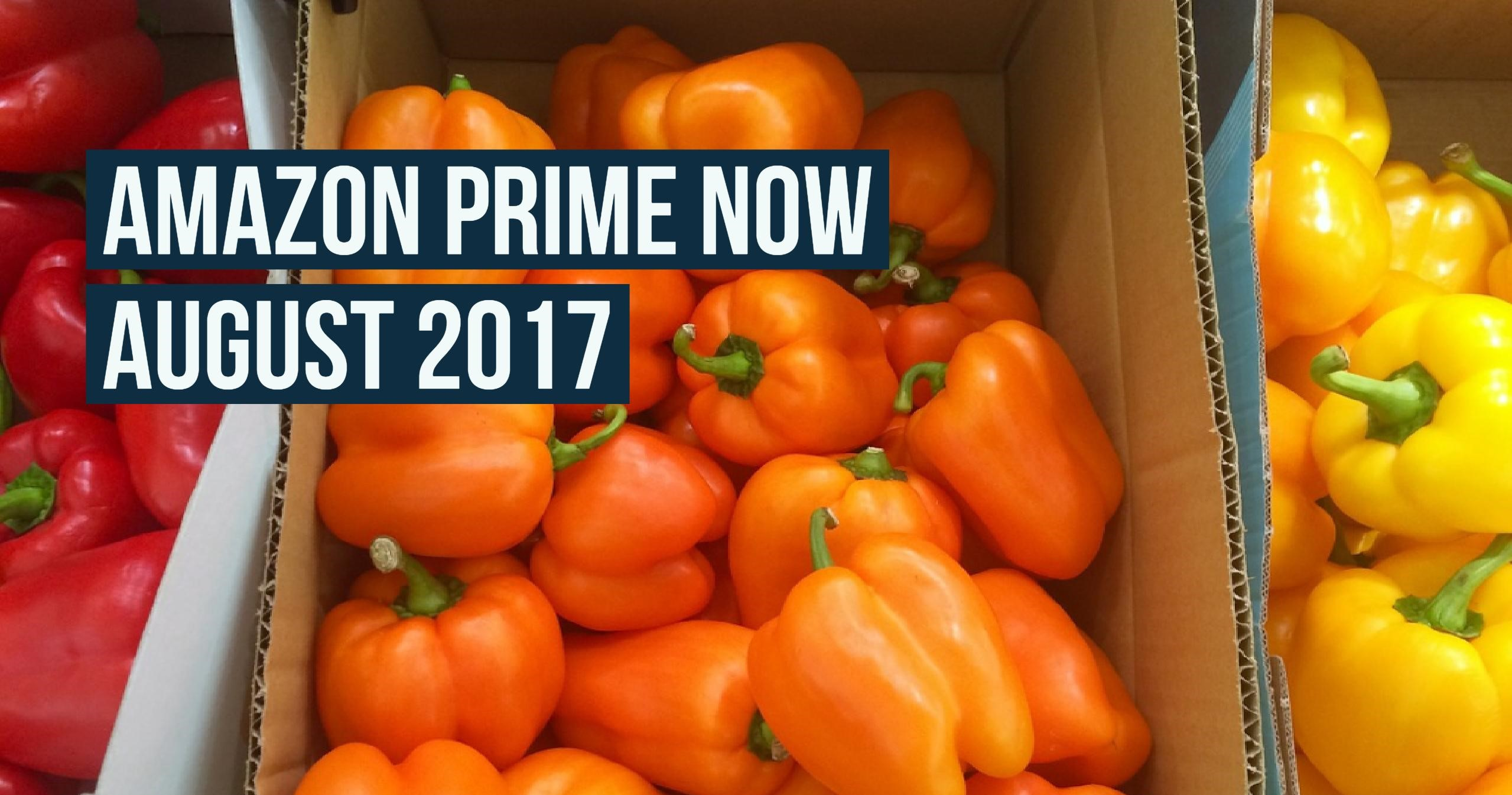 How Many Products Does Amazon Prime Now Carry – August 2017