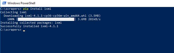 install-lxml-python-windows-10