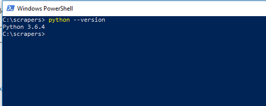 python-version-windows-10-web-scraping