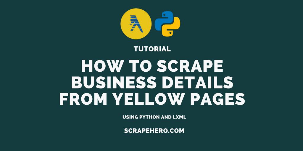 how to build web scraper using python