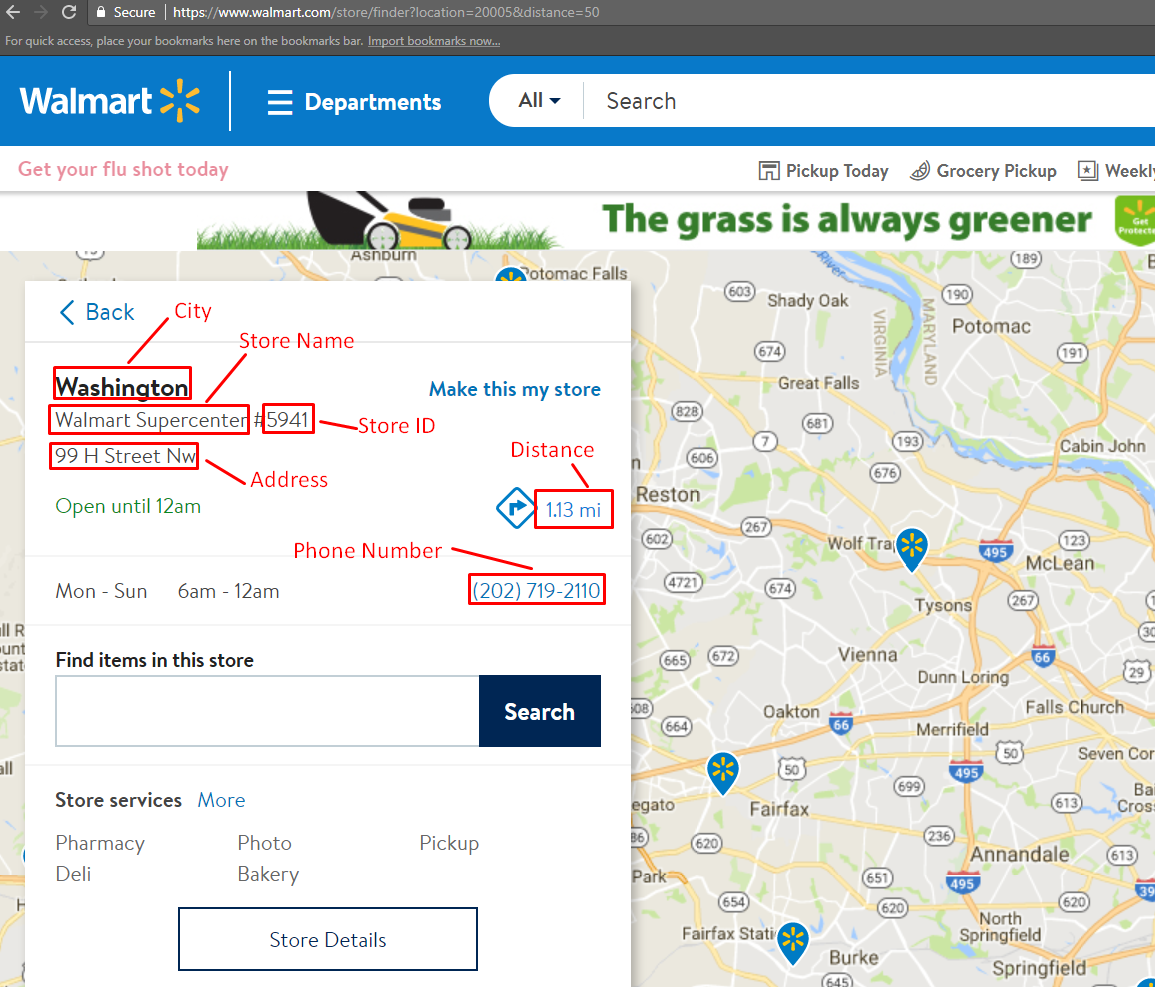 How to Scrape Store Locations from Walmart com using Python 3