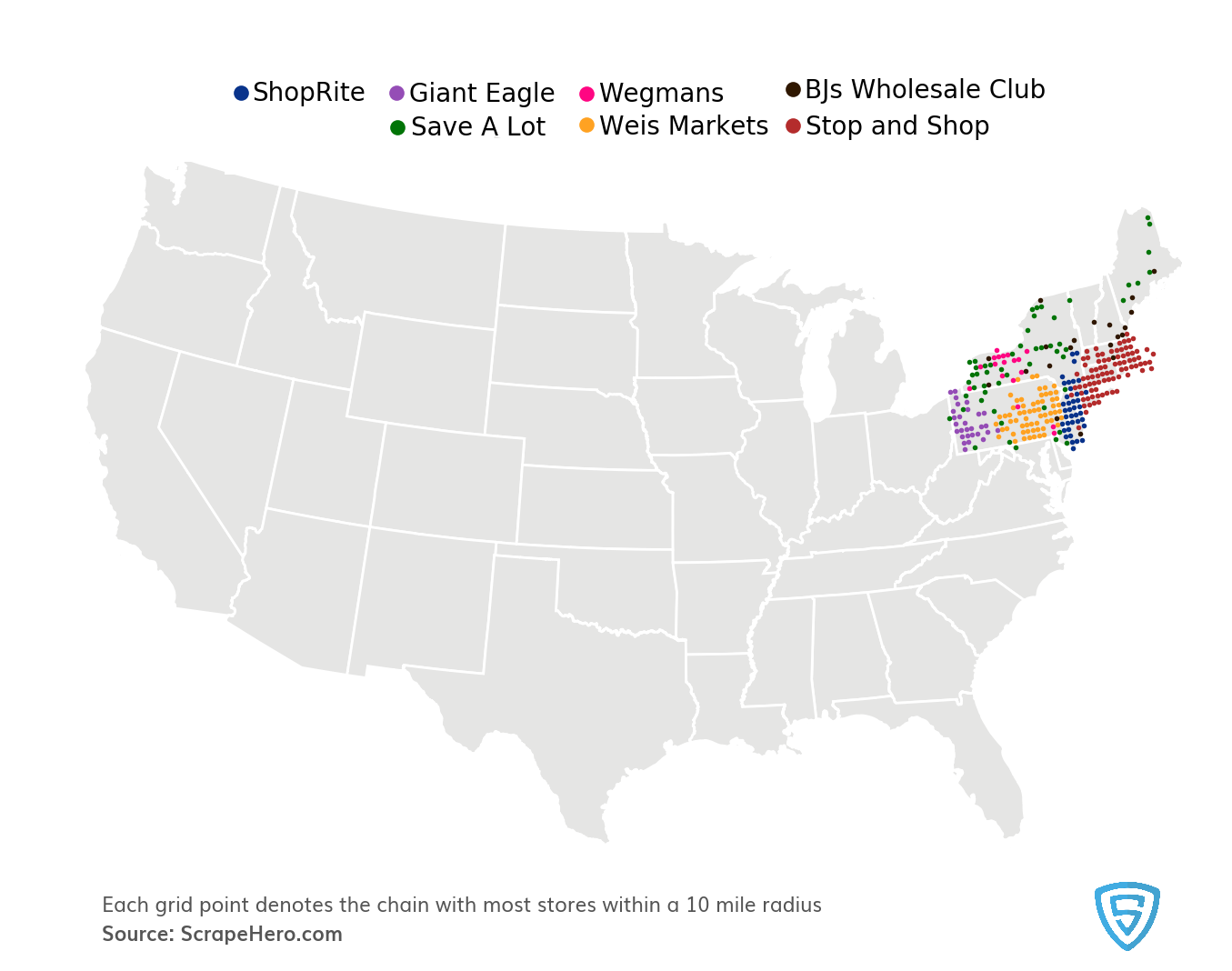 northeast-grocery-chains-usa-map