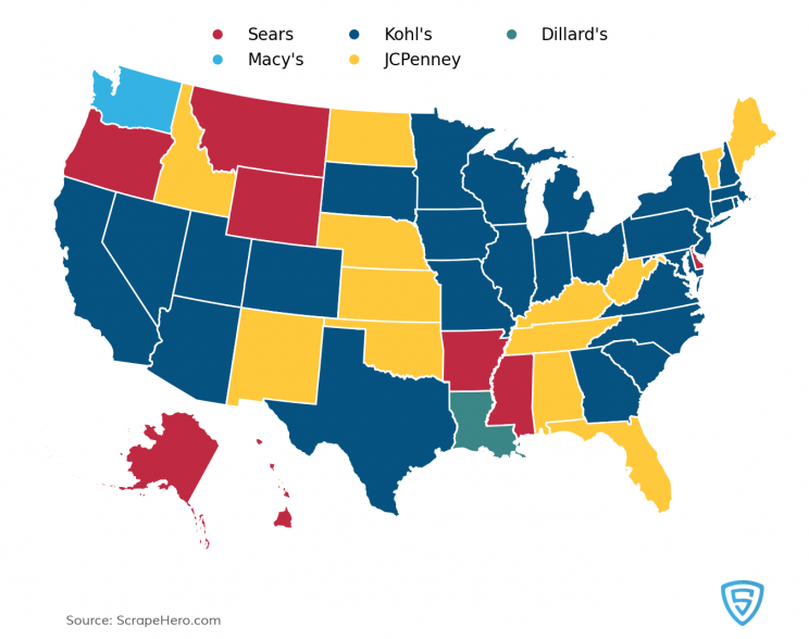 department-store-statewise-map
