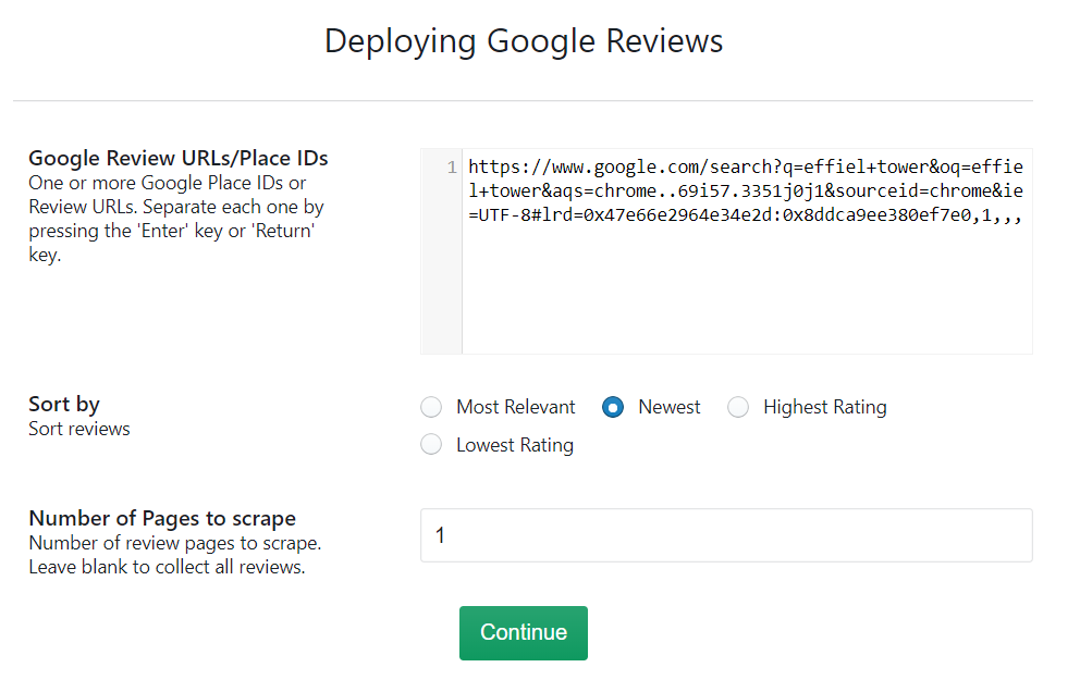 google-reviews-scraper