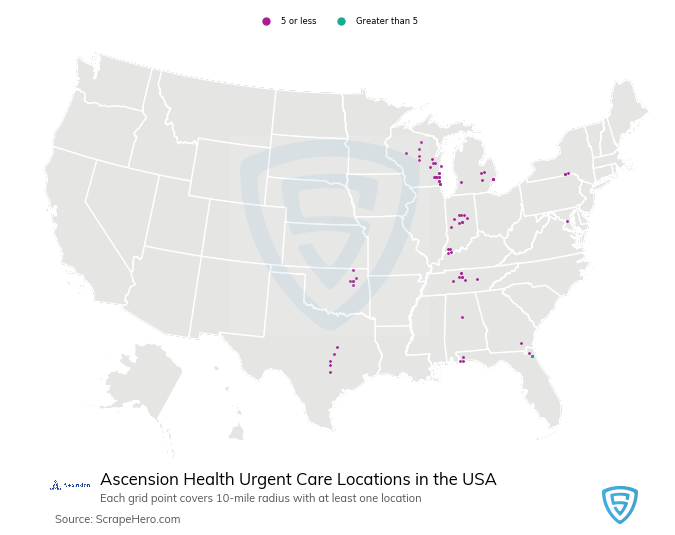 ascension-health-care-location-map
