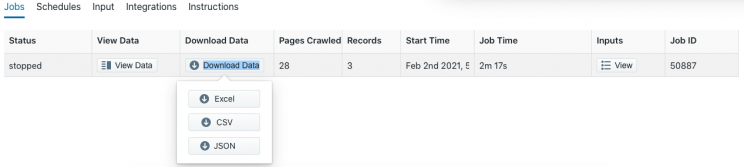 download-target-scraped-data