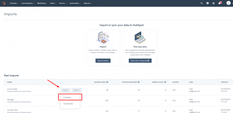 view-contacts-in-hubspot