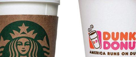 America's Favorite Coffee Chains – Starbucks and Dunkin'