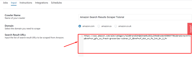 input-Amazon-search-result-URL-into-Search-Results-URLs-data-field