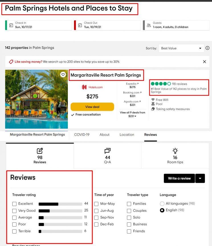 What can be scraped using Tripadvisor hotel reviews scraper